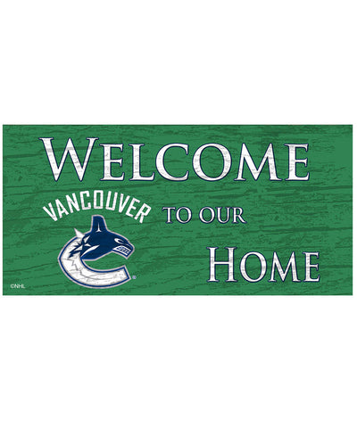 SPORTS ART COLLECTIONS VANCOUVER CANUCKS WELCOME TO OUR HOME SIGN