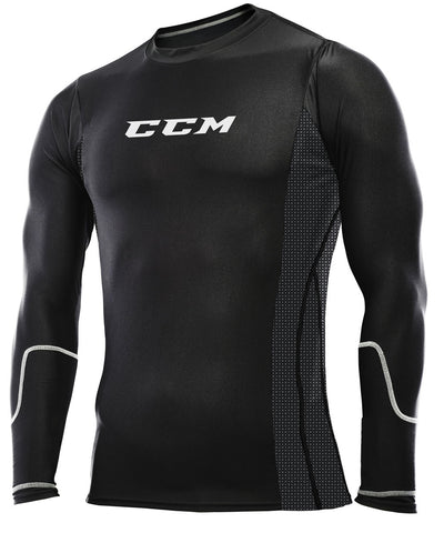 CCM PRO 360 COMPRESSION JUNIOR LONG SLEEVE TOP