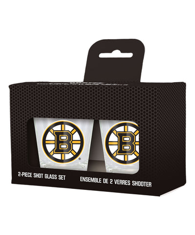 BOSTON BRUINS 2 PACK SHOT GLASSES