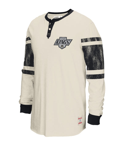CCM LOS ANGELES KINGS HENLEY SR LS SHIRT