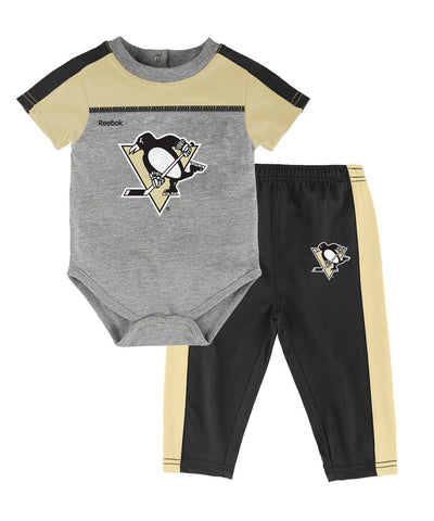 REEBOK PITTSBURGH PENGUINS NEWBORN HORIZON ONSIE PANT SET