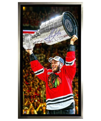 FRAMEWORTH JONATHAN TOEWS AUTOGRAPHED FRAMED CANVAS PRINT