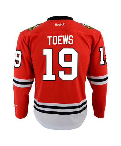 REEBOK CHICAGO BLACKHAWKS TOEWS #19 TODDLER REPLICA HOME JERSEY