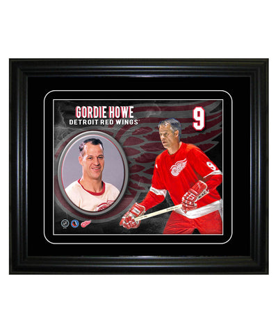 FRAMEWORTH DETROIT RED WINGS GORDIE HOWE 8X10 PLAYER PORTRAIT