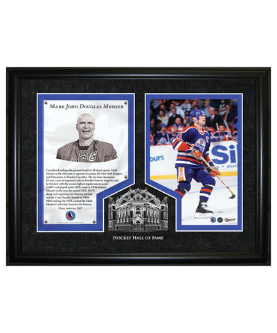 FRAMEWORTH HHOF REPLICA MARK MESSIER FRAME