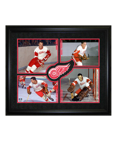 FRAMEWORTH HHOF 4-PLAYER DETROIT RED WINGS FRAME