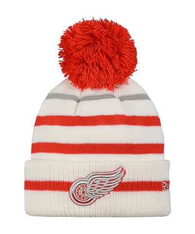 REEBOK DETROIT RED WINGS 2017 CC CUFFED POM KNIT JR TOQUE