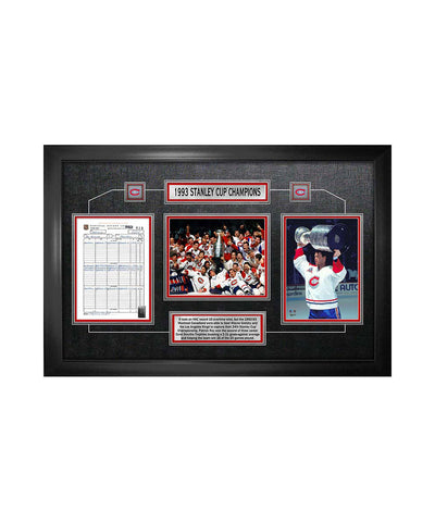 FRAMEWORTH MONTREAL CANADIENS FRAMED STANLEY CUP SCORESHEET