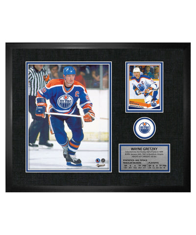 FRAMEWORTH EDMONTON OILERS GRETZKY FRAMED PHOTOCARD