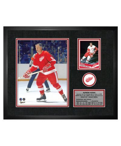 FRAMEWORTH DETROIT RED WINGS HOWE FRAMED PHOTOCARD