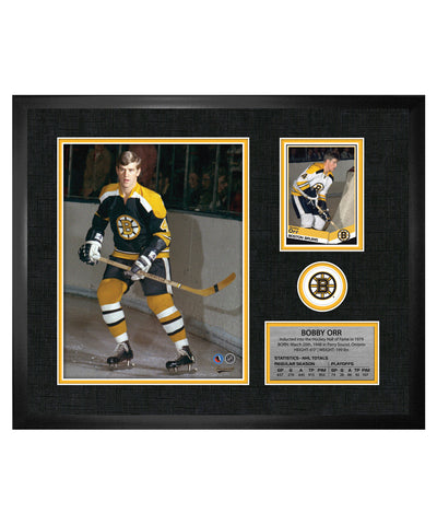 FRAMEWORTH BOSTON BRUINS ORR FRAMED PHOTOCARD