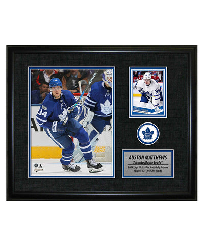 FRAMEWORTH AUSTON MATTHEWS TORONTO MAPLE LEAFS FRAMED PHOTOCARD PRINT