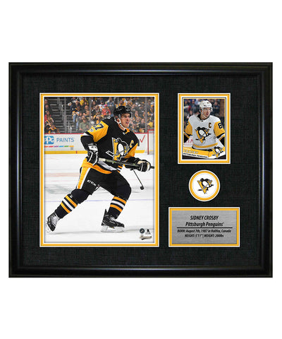 FRAMEWORTH SIDNEY CROSBY PITTSBURGH PENGUINS FRAMED PHOTOCARD PRINT