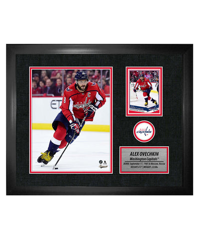 FRAMEWORTH ALEX OVECHKIN WASHINGTON CAPITALS FRAMED PHOTOCARD PRINT
