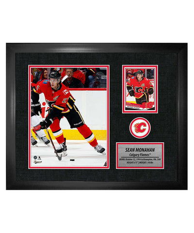 FRAMEWORTH SEAN MONAHAN CALGARY FLAMES FRAMED PHOTOCARD PRINT