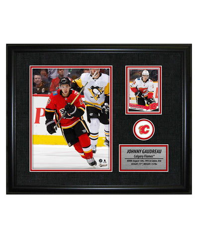 FRAMEWORTH JOHNNY GAUDREAU CALGARY FLAMES FRAMED PHOTOCARD PRINT