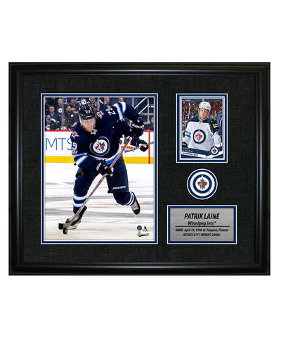 FRAMEWORTH PATRIK LAINE WINNIPEG JETS FRAMED PHOTOCARD PRINT