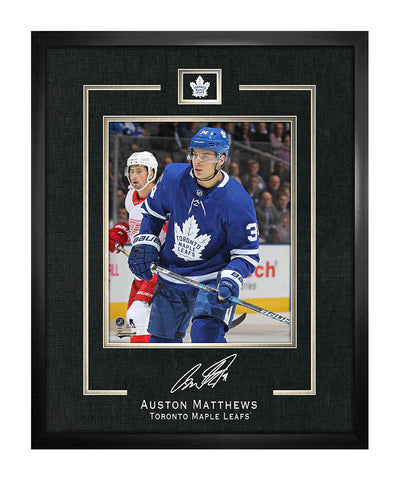 FRAMEWORTH AUSTON MATTHEWS TORONTO MAPLE LEAFS FRAMED REPLICA SIGNATURE - 16X20
