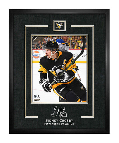 FRAMEWORTH SIDNEY CROSBY PITTSBURGH PENGUINS FRAMED REPLICA SIGNATURE - 16X20