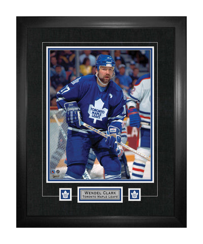 FRAMEWORTH TORONTO MAPLE LEAFS CLARK FRAMED 22X28