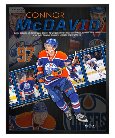FRAMEWORTH CONNOR MCDAVID 16X20 CAREER COLLAGE FRAME