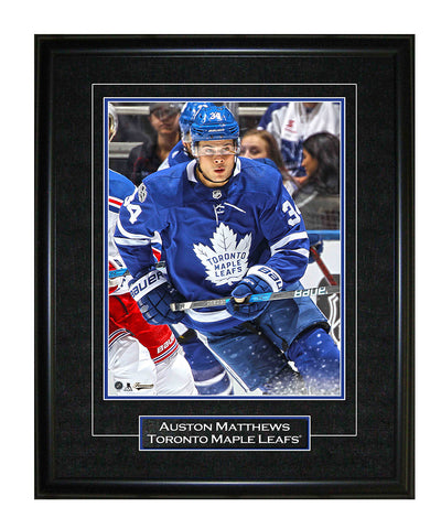 FRAMEWORTH AUSTON MATTHEWS TORONTO MAPLE LEAFS FRAMED 8X10 PRINT