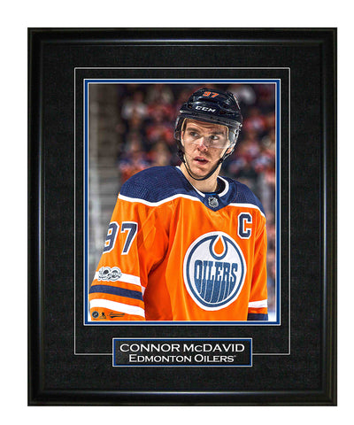 FRAMEWORTH CONNOR MCDAVID EDMONTON OILERS FRAMED 8X10 PRINT