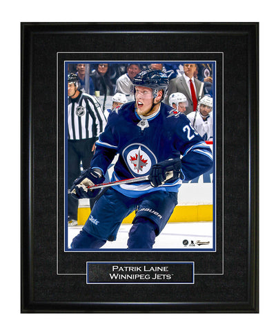 FRAMEWORTH PATRIK LAINE WINNIPEG JETS FRAMED 8X10 PRINT