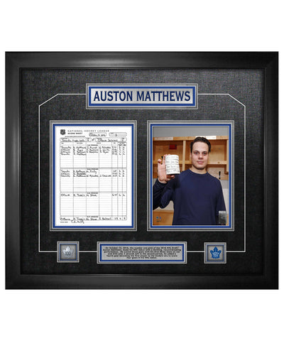 FRAMEWORTH TORONTO MAPLE LEAFS MATTHEWS FIRST NHL GAME COLLAGE