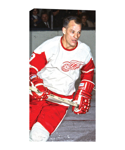 FRAMEWORTH DETROIT RED WINGS HOWE 14X28 CANVAS PRINT