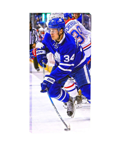 FRAMEWORTH TORONTO MAPLE LEAFS MATTHEWS 14X28 CANVAS PRINT