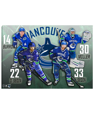 FRAMEWORTH VANCOUVER CANUCKS 20X29 CANVAS PRINT