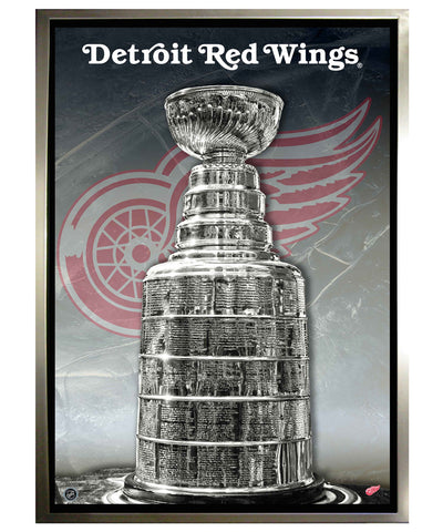 FRAMEWORTH DETROIT RED WINGS 24X35 CANVAS PRINT