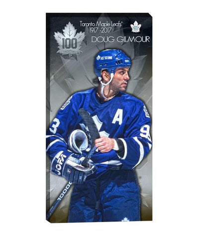 FRAMEWORTH TORONTO MAPLE LEAFS GILMOUR 14X28 CANVAS PRINT