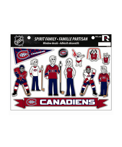 MONTREAL CANADIENS SPIRIT FAMILY CAR DECALS