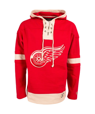 OLD TIME HOCKEY DETROIT RED WINGS LACER SR HOODY