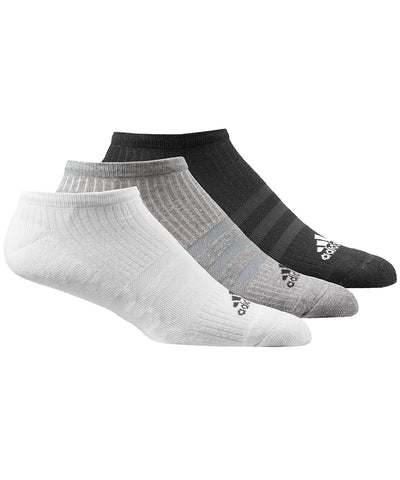 ADIDAS MEN'S 3 PACK ANKLE SOCKS - MULTI COLOUR