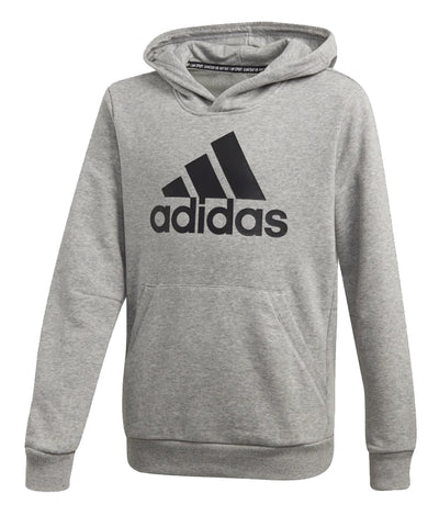 ADIDAS KIDS YB MH BADGE OF SPORT PO HOODIE - GREY