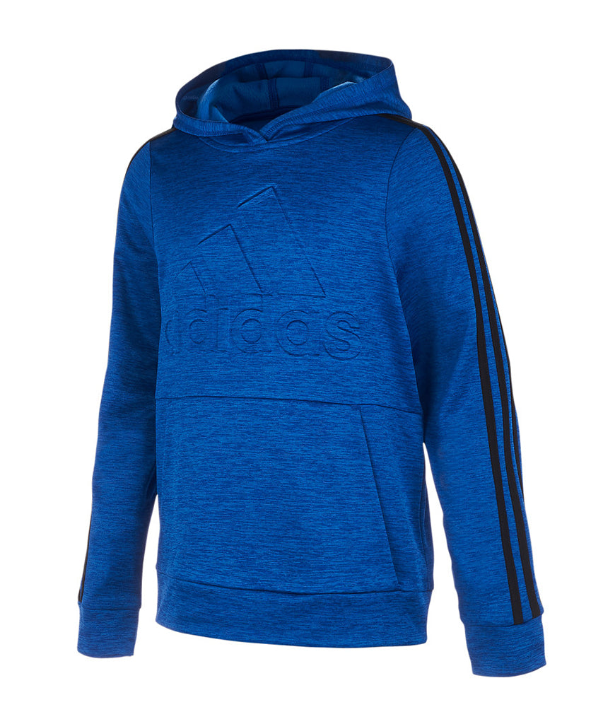 more photos fc90e 716f6 ADIDAS KID'S EMBADGE OF SPORTSED PULLOVER HOODIE - BLUE