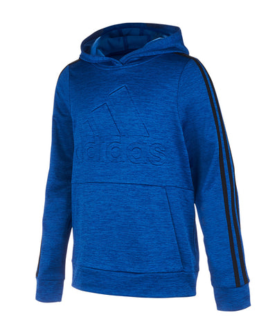 ADIDAS KID'S  EMBADGE OF SPORTSED PULLOVER HOODIE - BLUE
