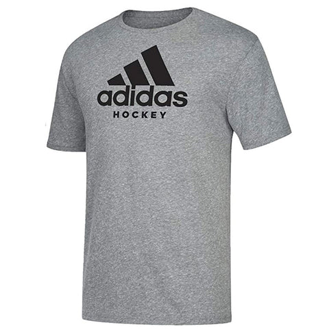 ADIDAS KID'S HOCKEY T SHIRT - GREY