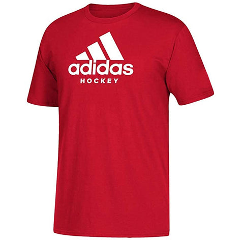 ADIDAS KID'S HOCKEY T SHIRT - RED