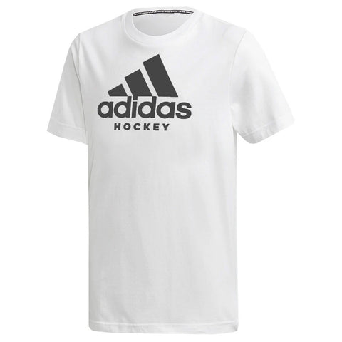 ADIDAS KID'S HOCKEY T SHIRT - WHITE