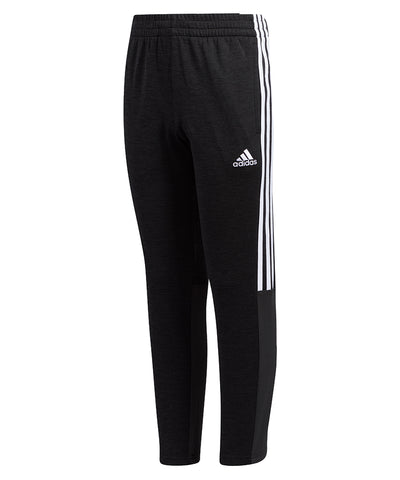 ADIDAS KID'S MESH PANTS - BLACK/WHITE