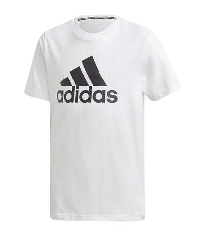 ADIDAS KID'S  MUST HAVES BADGE OF SPORT T SHIRT - WHITE/BLACK