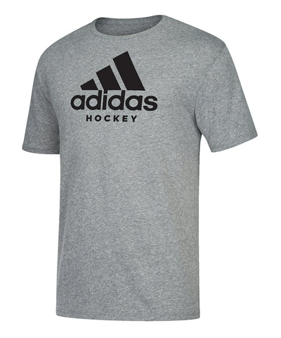 ADIDAS MEN'S  HOCKEY T SHIRT - GREY