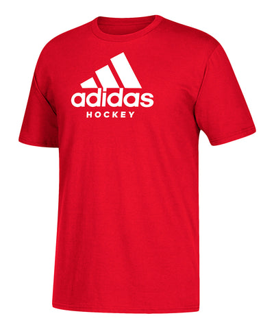 ADIDAS MEN'S HOCKEY T SHIRT - RED