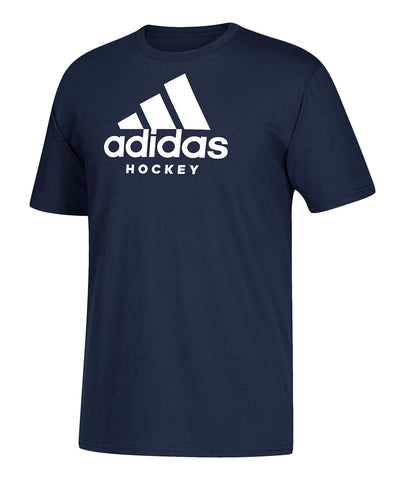 ADIDAS MEN'S HOCKEY T SHIRT - NAVY