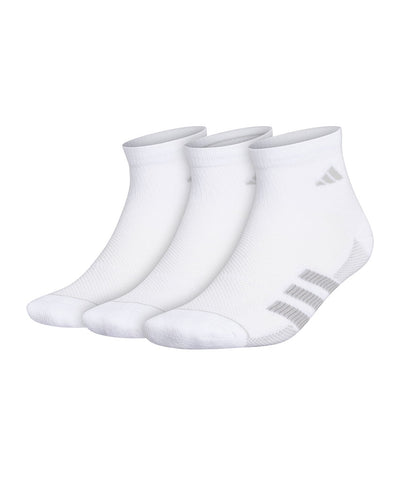 ADIDAS MEN'S 3S ANKLE SOCKS - 3 PACK - WHITE