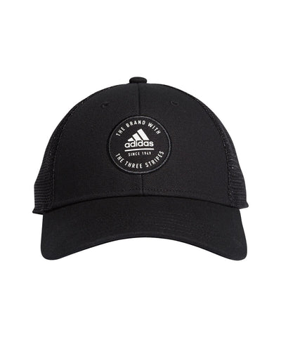 ADIDAS MEN'S ADIDAS ROUND LOGO HAT - BLACK